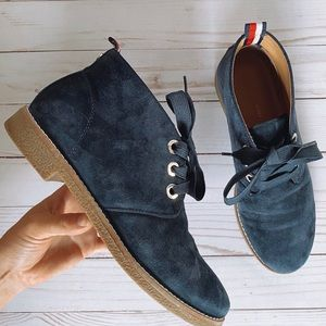 Tommy Hilfiger Suede Lace Up Booties